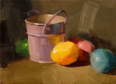 """""""Easter Colors' --- Sold"""" original fine art by Qiang Huang"""