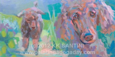 """""""Garden Muses, In Process"""" original fine art by Kimberly Santini"""