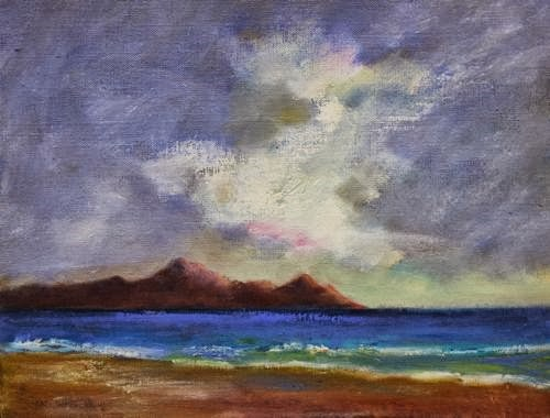 """""""Hawaii, Beach and Ocean Paintings by Arizona Artist Amy Whitehouse"""" original fine art by Amy Whitehouse"""