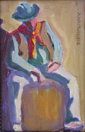 """""""Tucson Cowboy, Contemporary Figurative Paintings by Arizona Artist Amy Whitehouse"""" original fine art by Amy Whitehouse"""