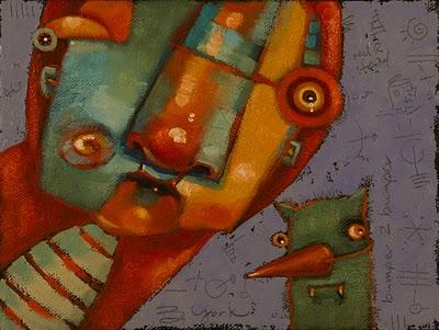 """Ms. Fitz And Carlos"" original fine art by Brenda York"