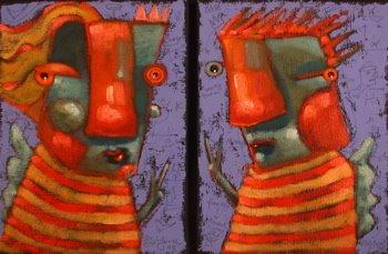 """Left Wing, Right Wing"" original fine art by Brenda York"