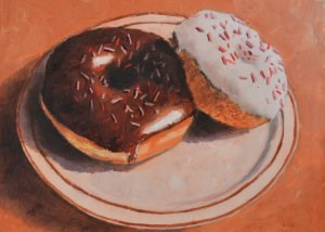 """Chocolate or Vanilla?"" original fine art by Robert Frankis"