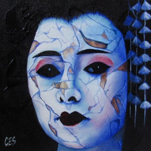 """Broken Geisha"" original fine art by ~ces~ Christine E. S. Code"