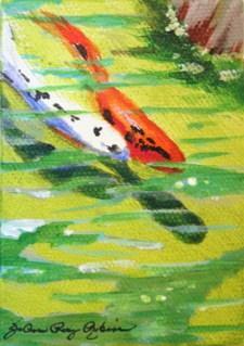 """Getting Along Swimingly"" original fine art by JoAnne Perez Robinson"