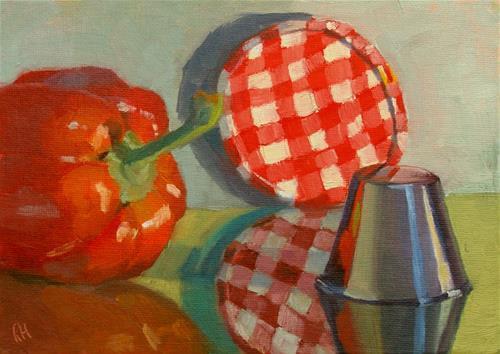 """Jelly Lid Reflections"" original fine art by Rebecca Helton"