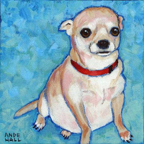 """""""Chubby Chihuahua"""" original fine art by Ande Hall"""