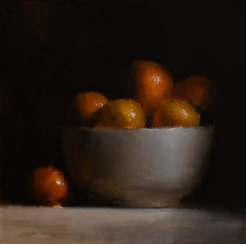 """Bowl of Clementines"" original fine art by Neil Carroll"