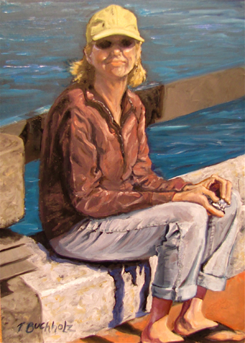 """The Dixie Chick"" original fine art by Terri Buchholz"