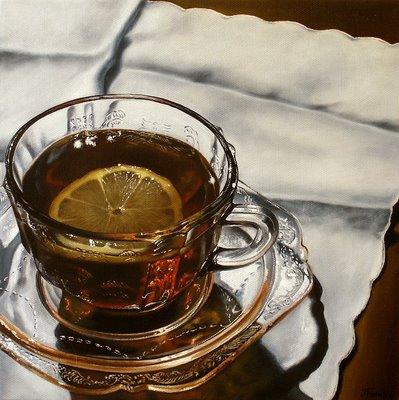 """With Lemon"" original fine art by Jelaine Faunce"