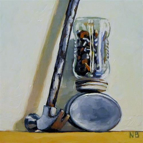 """Old Junk"" original fine art by Nora Bergman"