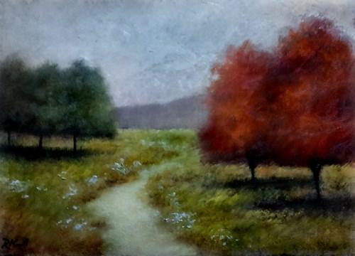 """The Park Path"" original fine art by Bob Kimball"