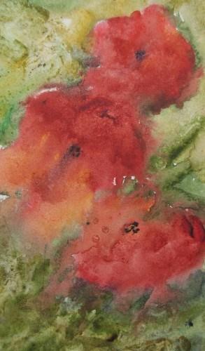 """Poppies"" original fine art by Jean Lurssen"