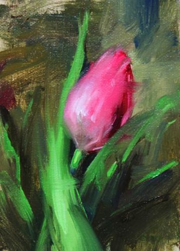 """""""Tulip"""" original fine art by Fongwei Liu"""