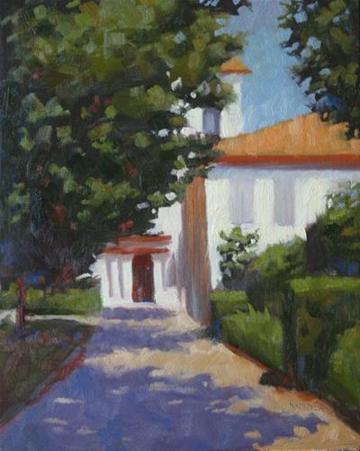 """Saint-Paul asylum in Saint Remy France 8x10 oil"" original fine art by Claudia Hammer"
