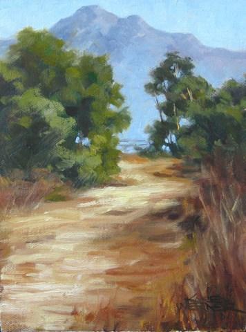 """""""Field Study, Chino Hills"""" original fine art by Karen Werner"""