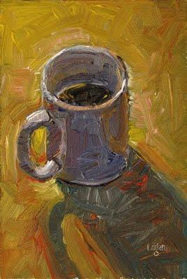 """White Mug"" original fine art by Raymond Logan"