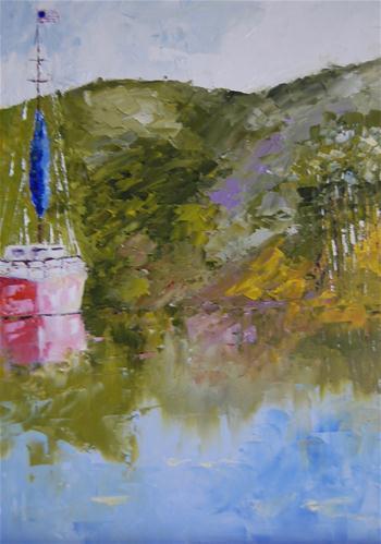 """""""American Abroad"""" original fine art by Deborah Harold"""