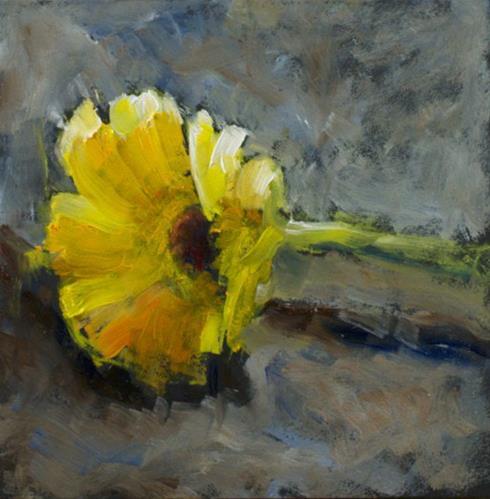 """Adrianna's Gerber Daisy"" original fine art by Sue Churchgrant"