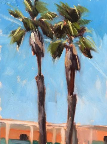 """""""Plein Air Palms"""" original fine art by Sharon Schock"""