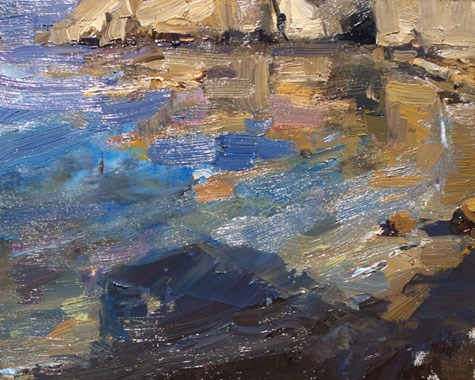 """Seascape California 16"" original fine art by Roos Schuring"