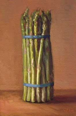 """""""Asparagus in Late Afternoon Light"""" original fine art by Abbey Ryan"""