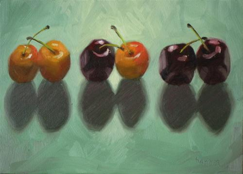 """Twin sets 7x5 oil on panel"" original fine art by Claudia Hammer"