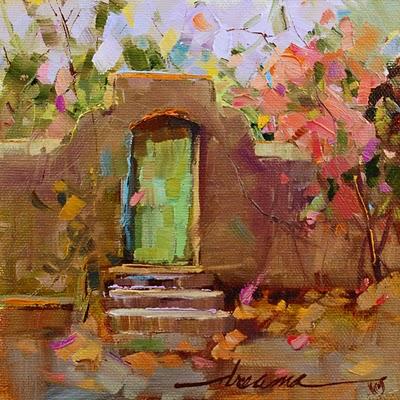 """Mur Français de Jardin (French Garden Wall) SOLD"" original fine art by Dreama Tolle Perry"