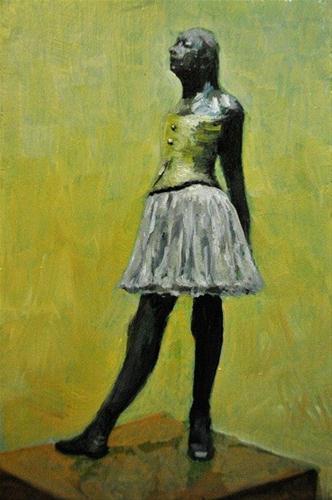 """A Little Degas 4x6 oil on wood panel"" original fine art by David Larson Evans"