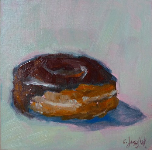 """Coffee  Break"" original fine art by Carol Josefiak"