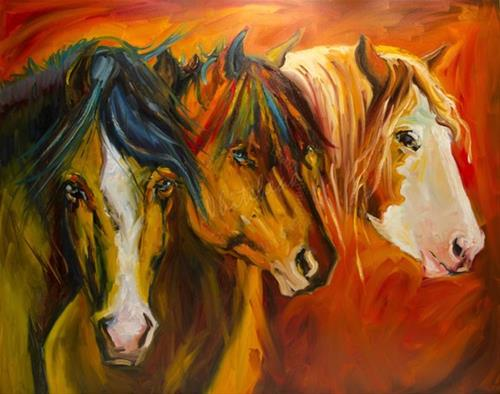 """""""ARTOUTWEST EQUINE AT THE FENCE HORSE ART BY Diane Whitehead"""" original fine art by Diane Whitehead"""