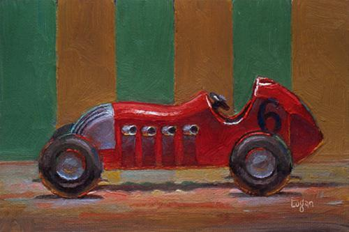 """Toy Roadster Red"" original fine art by Raymond Logan"