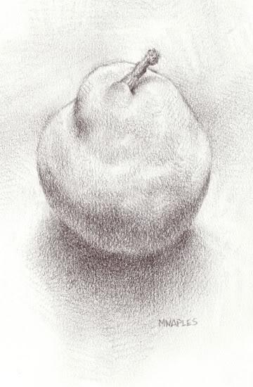 """""""Simple Pear"""" original fine art by Michael Naples"""