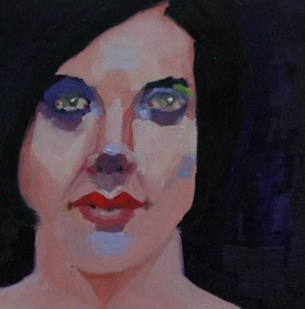 """""""FACE No. 115"""" original fine art by Linda Popple"""