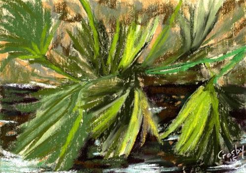 """Town Lake Foliage"" original fine art by Donna Crosby"