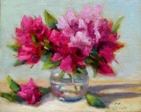 """Azaleas"" original fine art by Pat Fiorello"