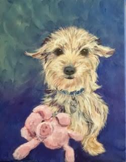 """""""Daisy - finally done!"""" original fine art by Lyn Gill"""