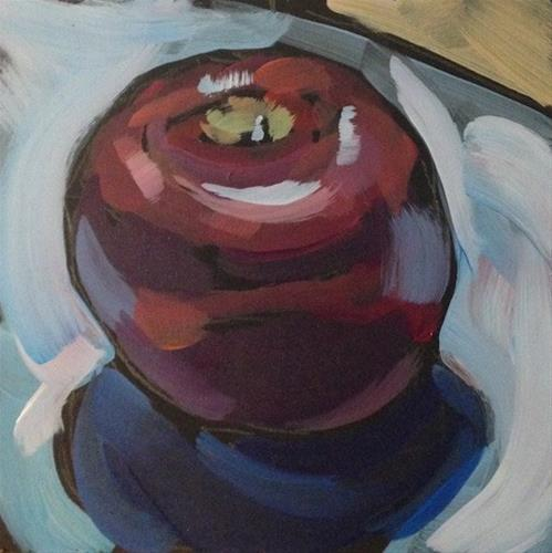 """""""An Apple For Your Thoughts"""" original fine art by Kat Corrigan"""
