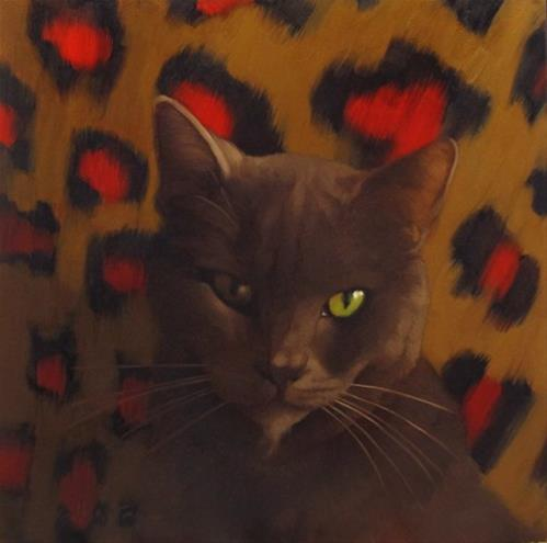 """""""Second Suspect a new cat painting"""" original fine art by Diane Hoeptner"""