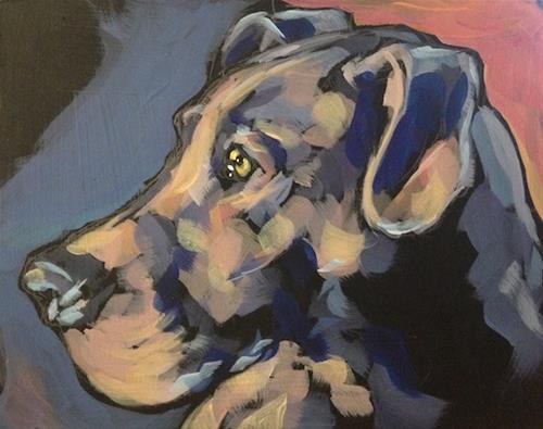 """July 8 Earl Grey"" original fine art by Kat Corrigan"
