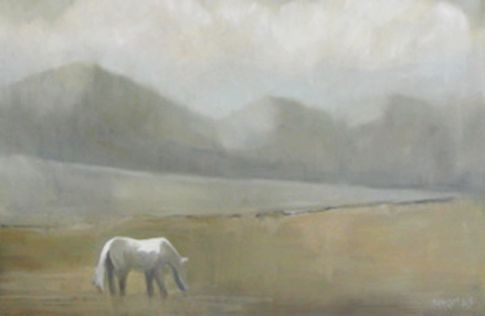 """The Lone Ranger"" original fine art by Donna Thomas"