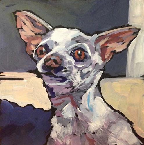 """""""Screen door Surveillance"""" original fine art by Kat Corrigan"""