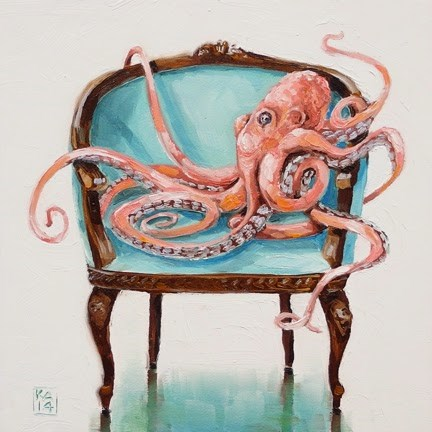 """Curly"" original fine art by Kimberly Applegate"