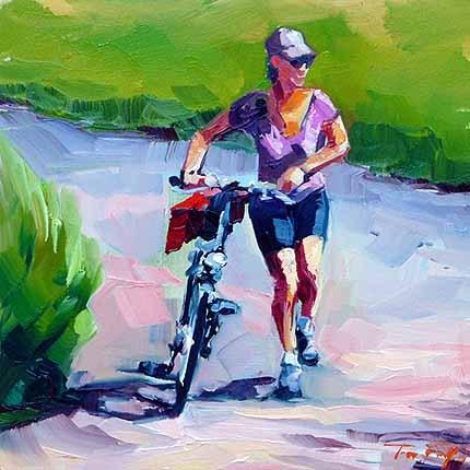 """Fahrradtour"" original fine art by Jurij Frey"