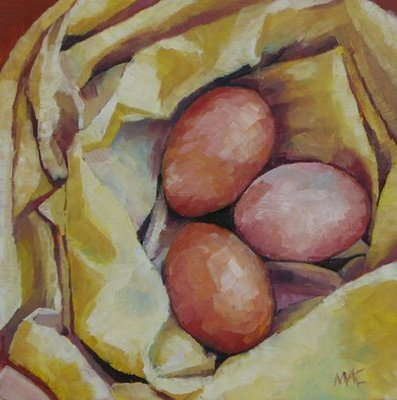 """Nest of Eggs"" original fine art by Mary Anne Cary"
