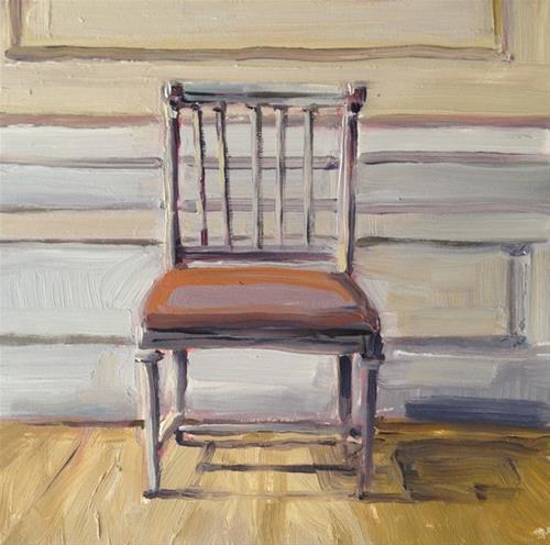 """Gray Chair"" original fine art by Deborah Newman"