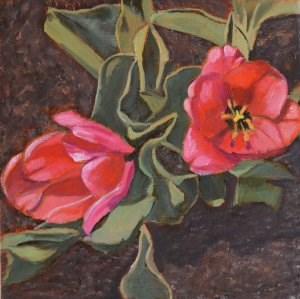 """""""First Tulips of the Year"""" original fine art by Robert Frankis"""
