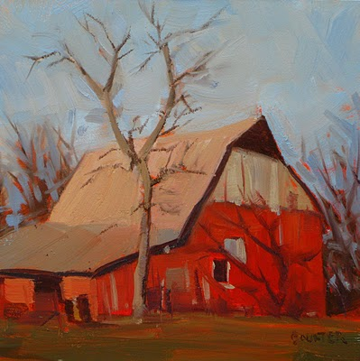 """BARN"" original fine art by James Coulter"