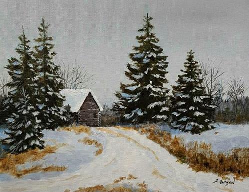 """The Tree Farm"" original fine art by Steve Gibson"