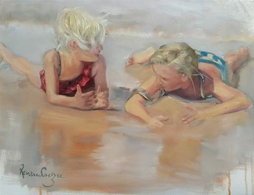 """Summer holiday"" original fine art by Rentia Coetzee"